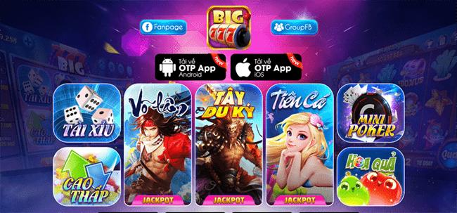 Cổng game đổi thưởng Big777