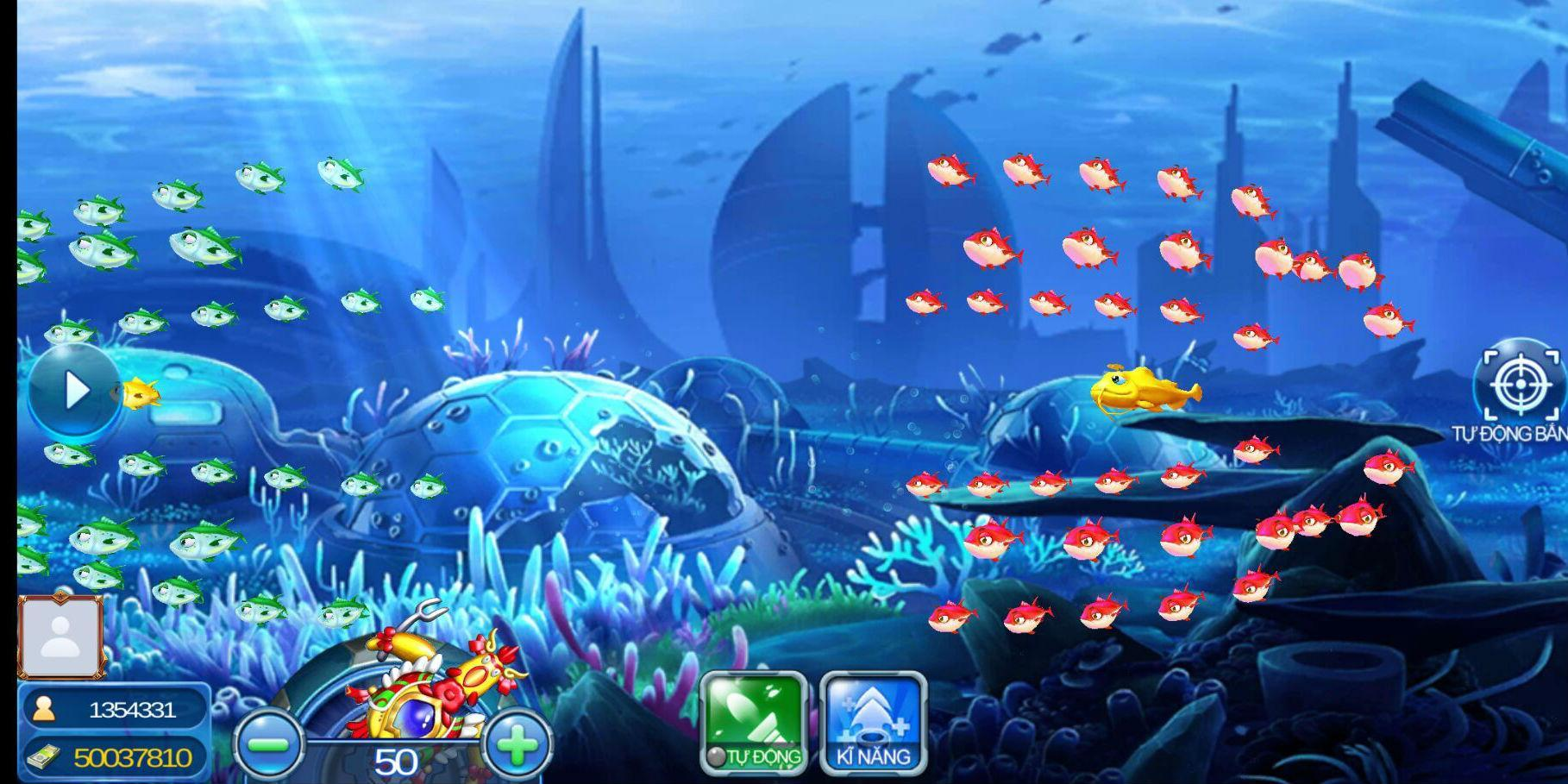 Cá bơi thành đàn dễ bắt trên Bắn Cá Vui