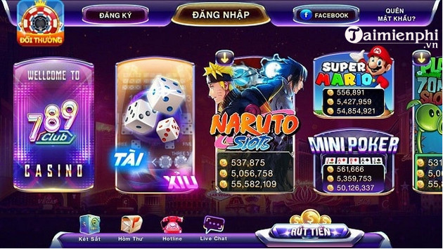 Giao diện cổng game 789 club