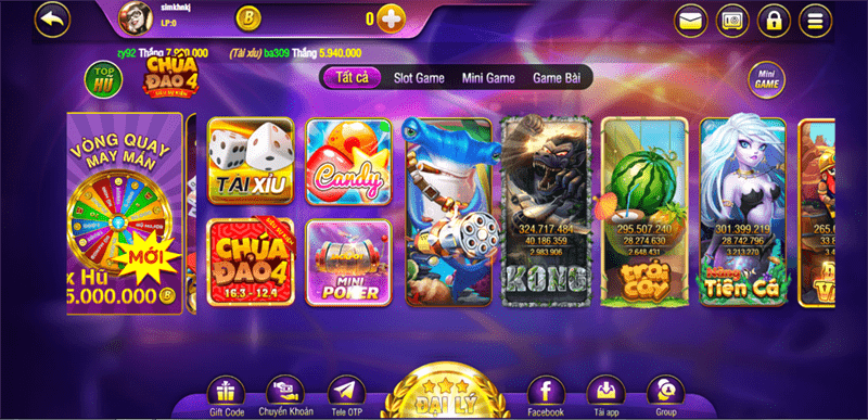 Giao diện Cổng game Bayvip Vin