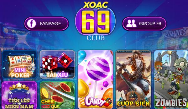 Giao diện cổng game Xoac69