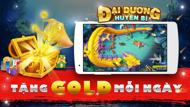Bắn cá đại dương huyền bí nhận gold hàng ngày