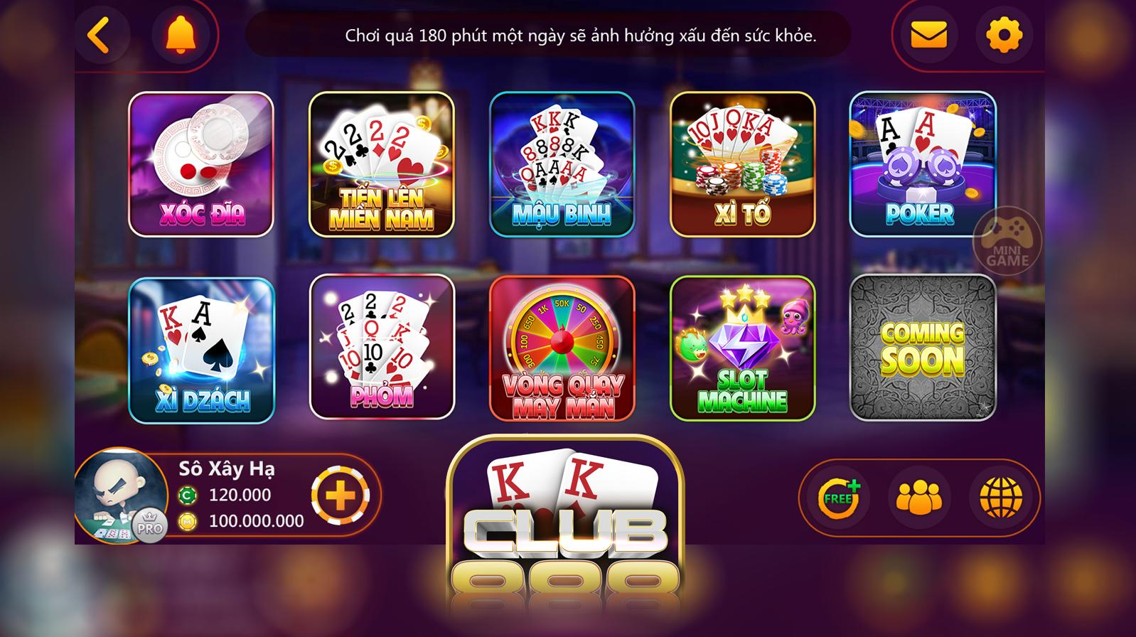 Giao diện cổng Vipgame