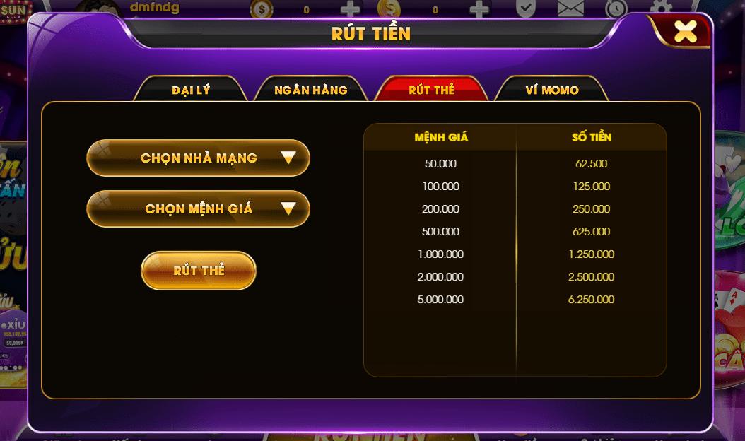 Gsun Win hỗ trợ đa kênh rút thưởng