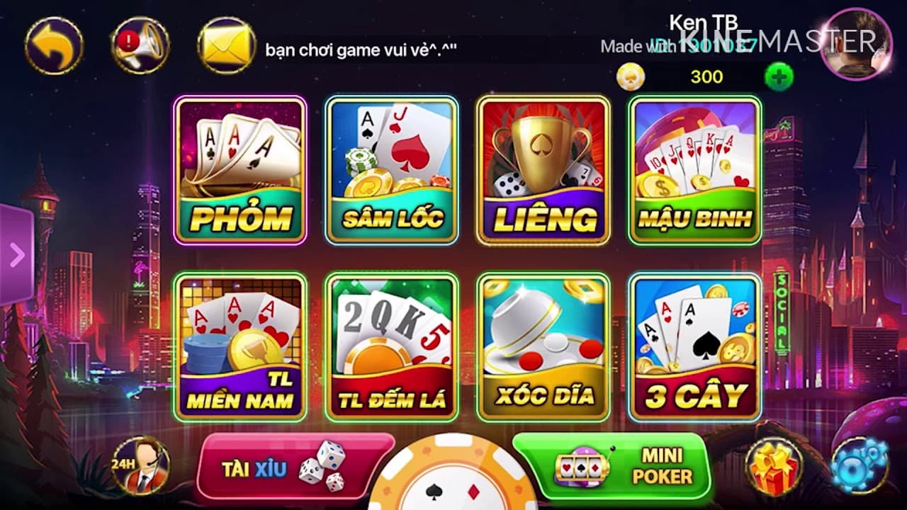 Giao diện cổng Game888