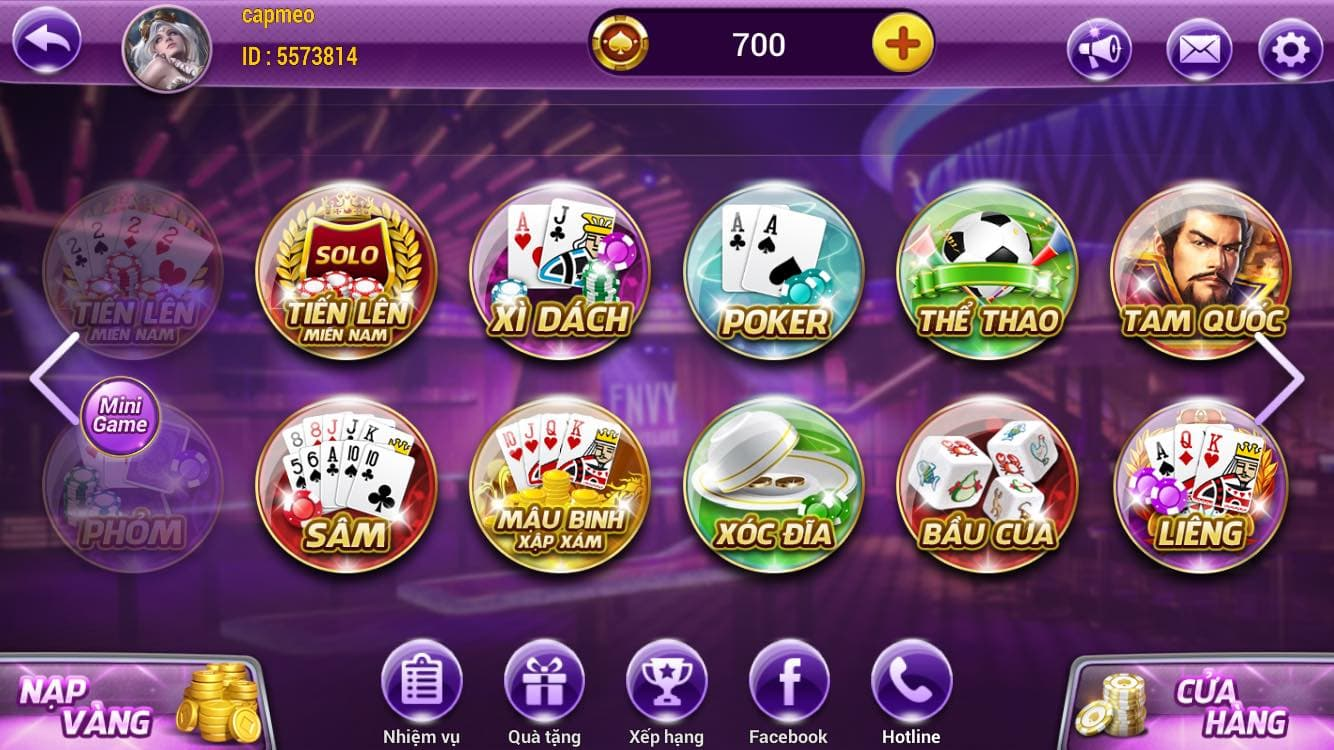 Giao diện cổng game King88