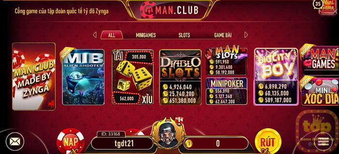Man Club   Tải Man.Club - Game Bài Phái Mạnh 2021