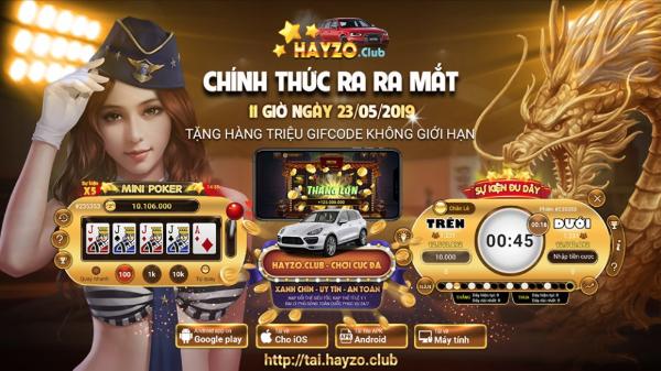 Hayzo -Cổng game đổi thưởng quốc tế